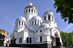 Iglesia ortodoxa famosa de Alexander Nevsky en Kamianets-Podilskyi, fotos de archivo libres de regalías