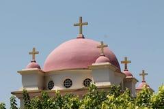 Iglesia ortodoxa griega de los doce apóstoles Imagen de archivo