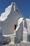 Iglesia ortodoxa griega de Paraportiani Imágenes de archivo libres de regalías