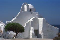 Iglesia ortodoxa griega de Paraportiani Fotografía de archivo