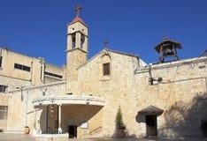 Iglesia ortodoxa griega del anuncio en Nazaret Imágenes de archivo libres de regalías
