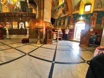 Iglesia ortodoxa griega del anuncio, Nazaret Foto de archivo libre de regalías