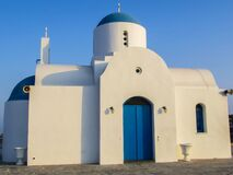 Iglesia ortodoxa griega en Chipre Imágenes de archivo libres de regalías