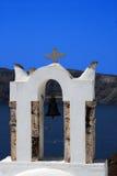 Iglesia ortodoxa griega - Santorini, Grecia foto de archivo