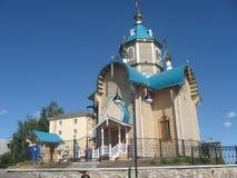 Iglesia ortodoxa, hecha de registros de madera Fotos de archivo libres de regalías