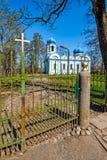 Iglesia ortodoxa hermosa en Cesis, Letonia, Europa imagenes de archivo