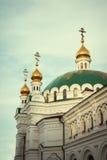Iglesia ortodoxa Kyiv, bóveda, cúpulas, Kiev-Pechersk Lavra Imágenes de archivo libres de regalías