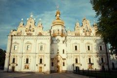 Iglesia ortodoxa Kyiv, bóveda, cúpulas, Kiev-Pechersk Lavra Imagen de archivo
