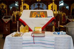 Iglesia ortodoxa moldava interior Fotos de archivo