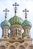 Iglesia ortodoxa rusa de la natividad Fotos de archivo libres de regalías