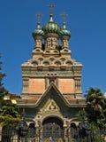 Iglesia ortodoxa rusa de la natividad Foto de archivo libre de regalías