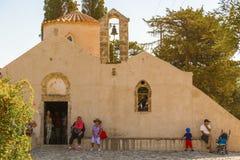 Iglesia Panagia Kera en Kritsa en Creta Fotos de archivo libres de regalías
