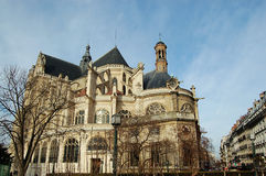 Iglesia París, Francia del Santo-Eustache Fotografía de archivo libre de regalías