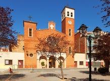 Iglesia parroquial de Sant Adria. España Fotografía de archivo