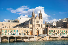 Iglesia parroquial de St Julians, Malta Foto de archivo libre de regalías