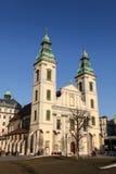 Iglesia parroquial del centro de la ciudad en Budapest imagen de archivo