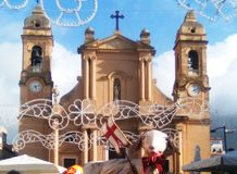 iglesia parroquial del terrasini en la provincia de Palermo Italia Imagen de archivo
