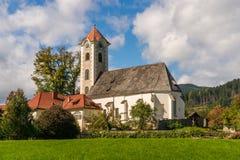 Iglesia parroquial en hlbach del ¼ de Obermà Fotografía de archivo