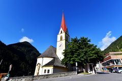 Iglesia parroquial Kappl Imagen de archivo libre de regalías
