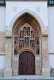 Iglesia Plaza de San Marcos de St Mark, Zagreb, Croacia fotografía de archivo