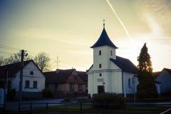 Iglesia por la tarde Fotografía de archivo