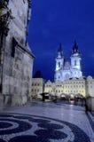 Iglesia Praga, República Checa imagenes de archivo