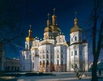 Iglesia principal de la catedral de la Kiev-Pechersk Lavra Foto de archivo