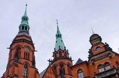 Iglesia principal en Legnica - Polonia imagen de archivo