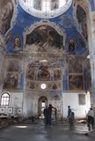 Iglesia que repara en Uglich, Rusia. Imagen de archivo libre de regalías