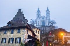 Iglesia reformada en Aarburg Fotos de archivo libres de regalías