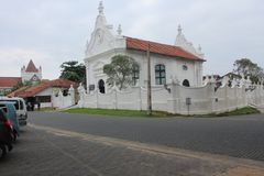 Iglesia reformada holandés en el fuerte de Galle fotografía de archivo