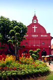 Iglesia roja de Cristo de la casa en Malacca Fotografía de archivo