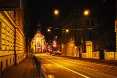 Iglesia roja en Brno fotografía de archivo libre de regalías