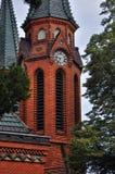 Iglesia roja en Postorna Fotografía de archivo libre de regalías