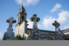 Iglesia Románica de Galicia, España Imagen de archivo libre de regalías