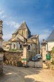Iglesia Románica en la aldea cerca del castillo de Villandry, Francia Foto de archivo libre de regalías