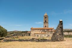 Iglesia Románica en la provincia septentrional de Cerdeña Sassari Itay Fotografía de archivo