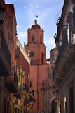 Iglesia rosada Guanajuato México de San Francisco Imagenes de archivo