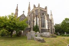 Iglesia rumana del siglo XII del estilo de St Mary la Virgen, Dover, Reino Unido foto de archivo