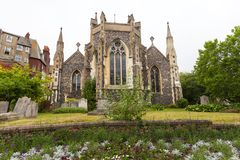 Iglesia rumana del siglo XII del estilo de St Mary la Virgen, Dover, Reino Unido imagenes de archivo