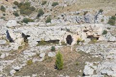 Iglesia rupestre. Matera. Basilicata. Italia. Imagenes de archivo