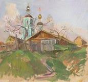 Iglesia rusa ilustración del vector