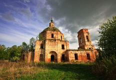 Iglesia rusa abandonada Imagen de archivo
