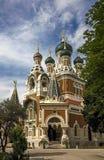 Iglesia rusa en Niza Fotografía de archivo libre de regalías