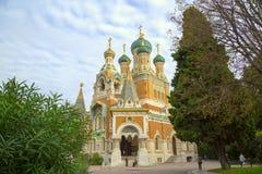 Iglesia rusa en Niza Foto de archivo