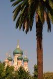 Iglesia rusa en Niza, Francia Imagen de archivo libre de regalías
