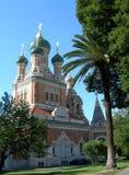 Iglesia rusa en Niza, Francia Foto de archivo