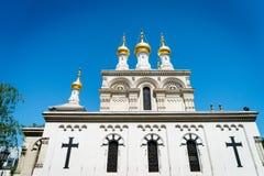 Iglesia rusa, Ginebra, Suiza imagen de archivo