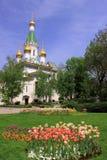 Iglesia rusa San Nicolás el Wonderworker en Sofía Foto de archivo libre de regalías