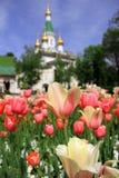 Iglesia rusa San Nicolás el Wonderworker en Sofía, Bulgaria Fotografía de archivo libre de regalías